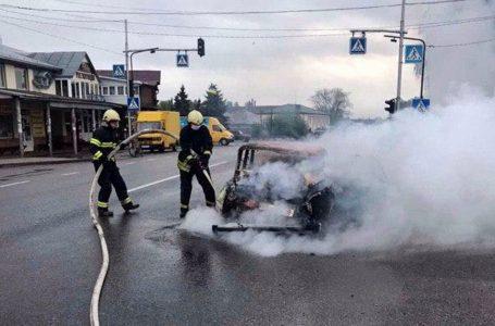 На трасі Львів – Тернопіль згорів автомобіль (ФОТО, ВІДЕО)