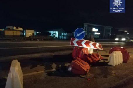 Новини Тернополя: п'яний водій протаранив блокпост