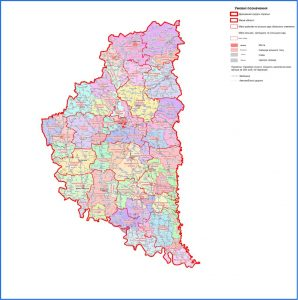 карта Тернопільщини, 55 ОТГ