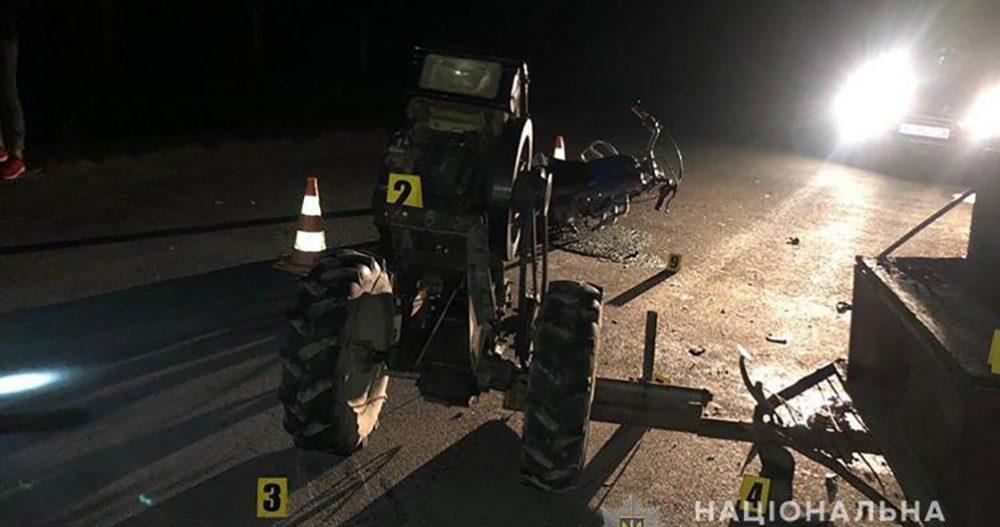 У Чортківському районі в результаті аварії загинула пасажирка мотоблоку (ФОТО)