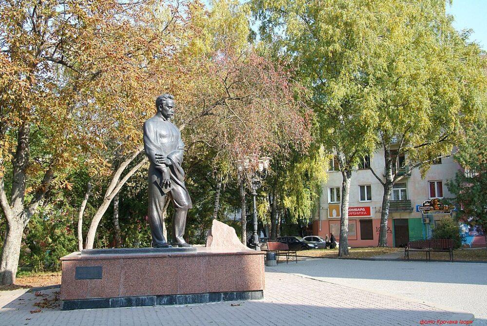 Пам'ятники Тернополя: Іван Франко, Степан Бандера та Іван Горбачевський (фото)