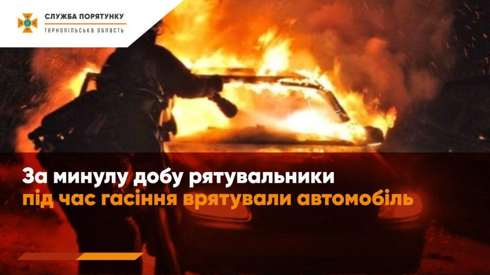 Аварія на Бережанщині: легковий автомобіль перекинувся та загорівся