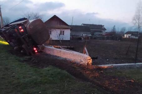 """На Тернопільщині перекинулася вантажівка """"DAF"""" – 32-річний пасажир загинув"""