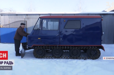 Житель Тернопільської області власноруч змайстрував снігохід (ВІДЕО)