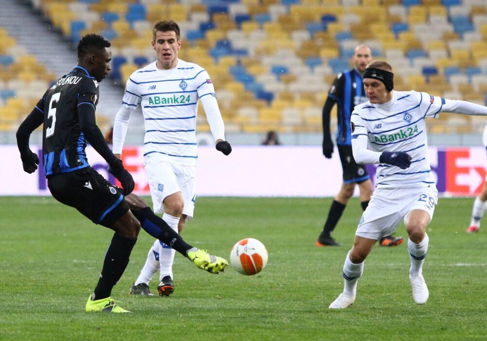 Динамо зіграло в нічию з Брюгге у домашньому матчі 1/16 фіналу Ліги Європи (ВІДЕО)