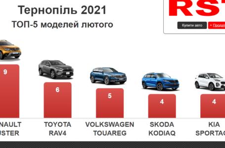Які автомобілі найчастіше купували тернополяни у лютому – рейтинг моделей