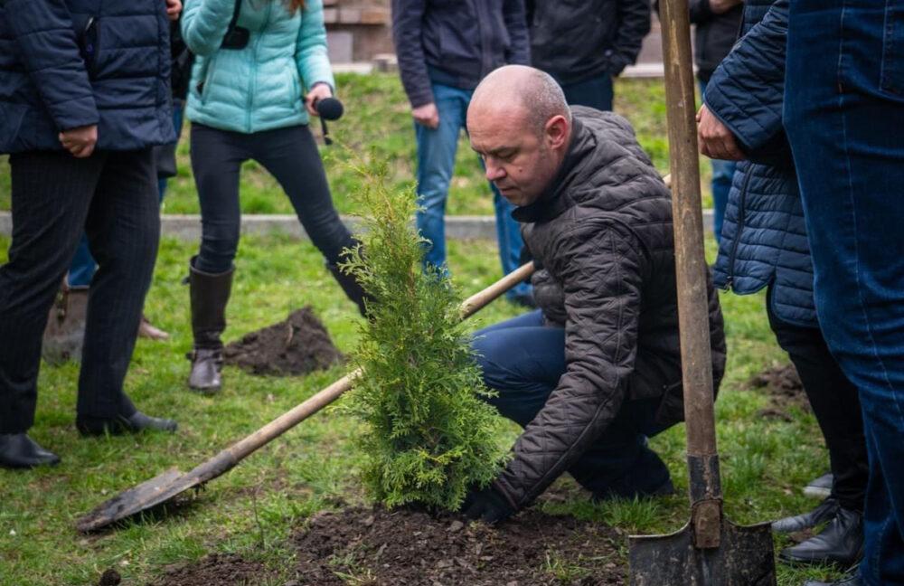 У парках та відпочинкових зонах Тернополя висадили більше 200 дерев