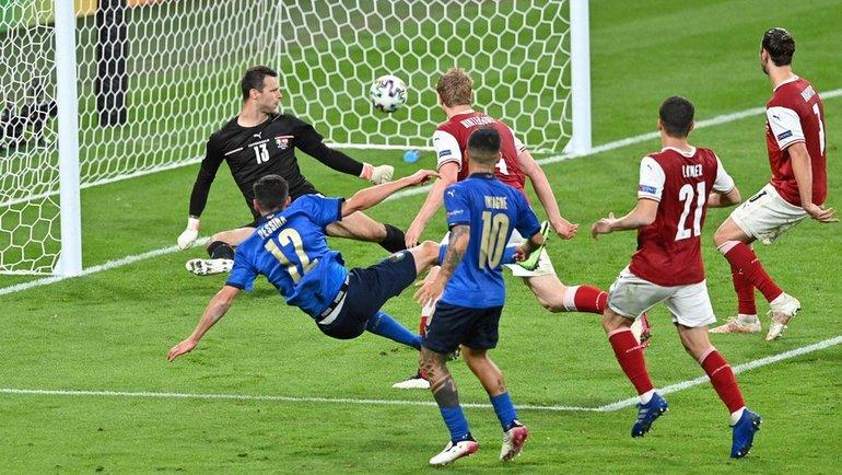 Італія - Австрія, Євро-2020, гол Пессіни
