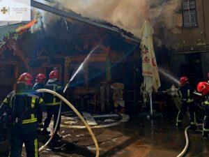 новини Тернополя, горить бар Коловорот