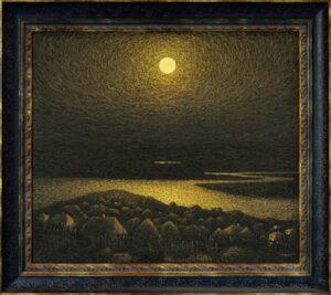 """Іван Марук, картина """"Золота ніч"""", 1981 р."""