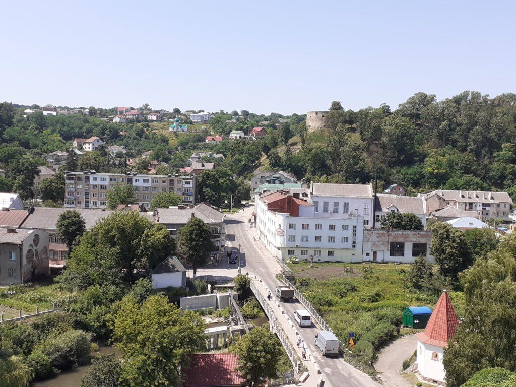 Теребовля, вигляд на місто з ратуші