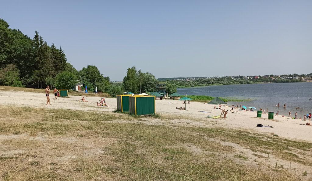пляж у Тернополі, спека