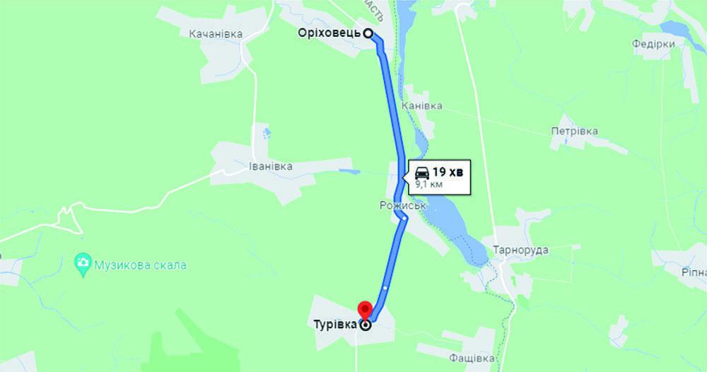 дорога Оріховець - Турівка