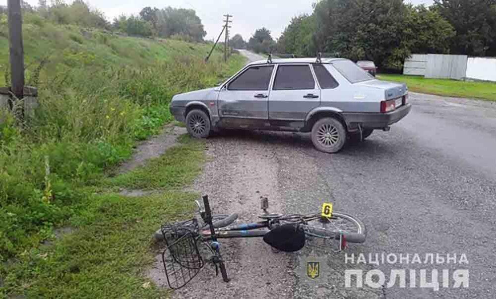 На Лановеччині водій ВАЗу збив жінку, яка їхала на велосипеді (ФОТО)