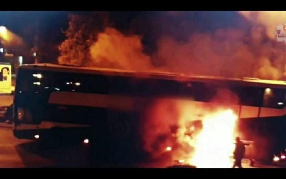 У Польщі під час руху загорівся автобус, який їхав зі Слупська до Тернополя (ВІДЕО)